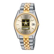 US Army 2 Tone Womens Bracelet Watch
