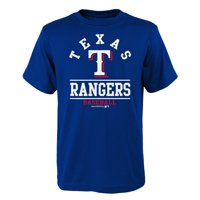 Youth Royal Texas Rangers Arch T-Shirt