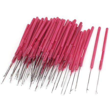 Plastic Silver Tone Red Handgrip Crochet Hook Needles 50 Pcs - image 1 de 1