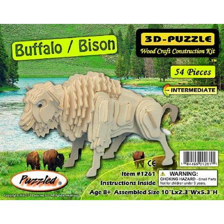 Buffalo/Bison Skeleton Puzzle (10'' Long)