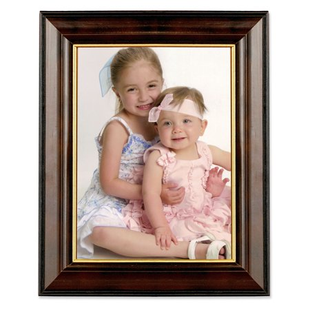 Walnut And Black Wood 8x10 Picture Frame Gold Line