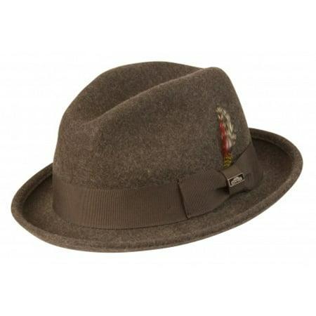 Conner Hats Men's Soho Fedora Hat Brown Mix XL ()