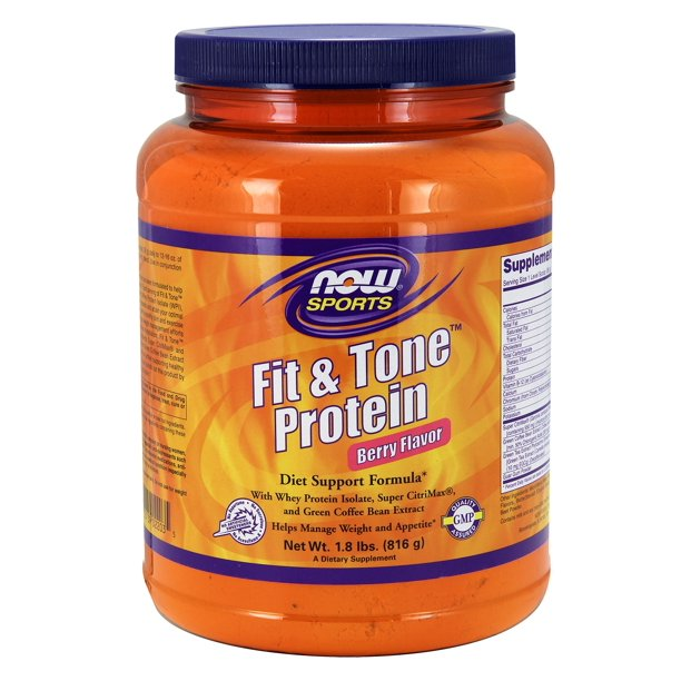 Fit Tone Protein Berry Flavor Now Foods 1 8 Lb Powder