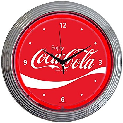 Neonetics Drinks Coca Cola Wave Neon Wall Clock, 15-Inch (Coca Cola Rugs For Kitchen)