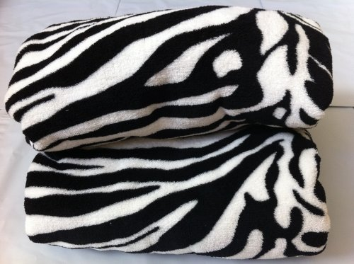 Queen Blanket Sumptuously Soft Plush Black Zebra Animal Print Blankets   Reversible by