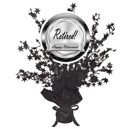 RETIREMENT CLASSY BLACK CENTERPIECE (EACH) by Partypro