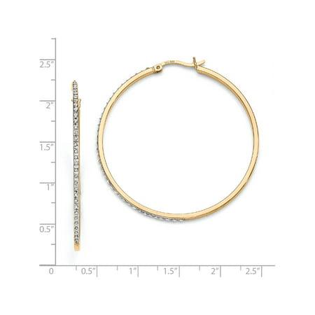 925 Boucles d'oreilles en argent sterling et -plated diamant Mystique Hoop Round (1x47mm) - image 1 de 2