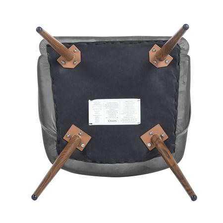 FurnitureR Dining Room Upholstered arm chair (2-piece set),GREY - image 5 de 8