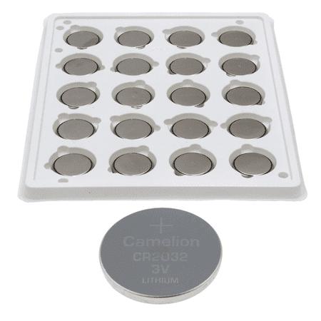 20 Pack Camelion CR2032 3 Volt Lithium Coin Button Cell Battery; in Bulk Plastic Storage - Cr2032 Batteries Bulk