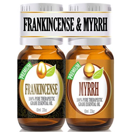 Frankincense And Myrrh Essential Oil Combo Pack 100  Pure  Best Therapeutic Grade Essential Oil   2 10Ml