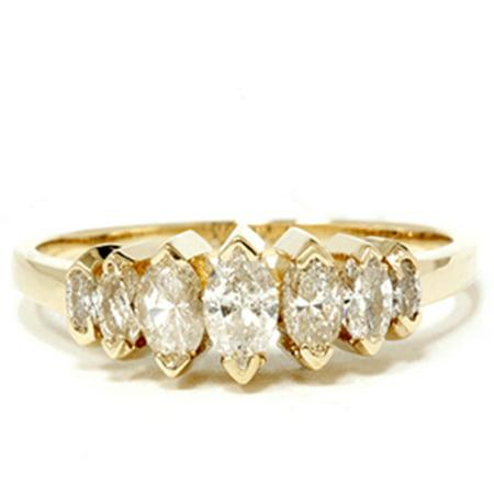14k Yellow Gold 3 4ct Marquise Diamond Wedding Anniversary
