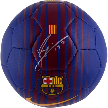 Fanatics Authentic Soccer Ball, Size 5, Purple and Red (Messi Signed Ball)