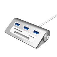 GLiving USB Hub, 3-Port USB 3.0 Aluminum Hub- Perfect for  IMac, All MacBooks, Mac Mini, or Any PC