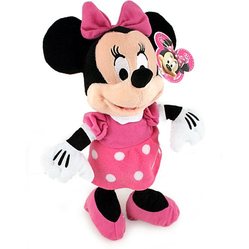 """Plush - Disney Minnie Mouse Pink Outfit 9"""" Soft Doll Toys New 108020"""
