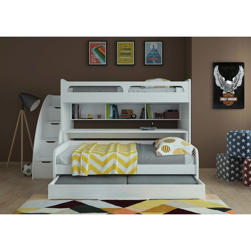 Harriet Bee Corona Twin Over Full Xl Futon Bunk Bed Walmart Com