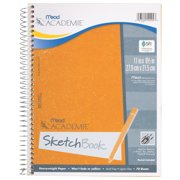 "Mead Académie Wirebound Sketchbook, 70 Sheets, 11"" x 8 1/2"" Sheet Size (54404)"