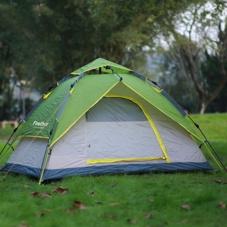 Finether 3-Person Dome Tent Outdoor Ultralight Waterproof Instant Set-Up  Double-Walled Tent All Season Camping Shelter for Camping Hiking Traveling