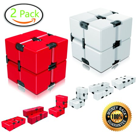 ganowo infinity cube fidget toy for kids and adults, fidget cube cool mini magic cube for stress and anxiety relief and kill time