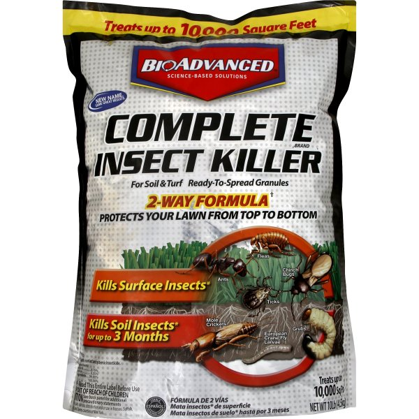 Bayer Advanced Complete Soil Turf Insect Killer For Lawns 10 Lb Walmart Com Walmart Com