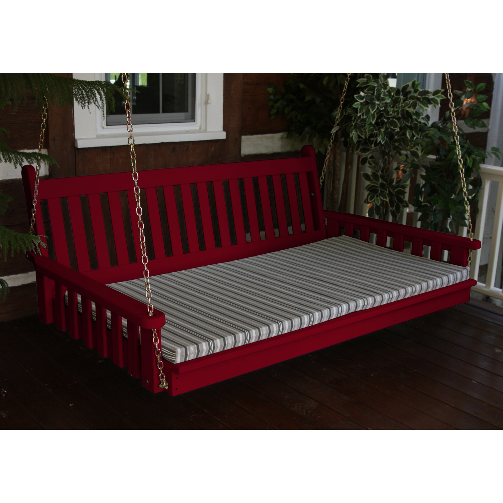 A & L Furniture Yellow Pine Traditional English Swing Bed