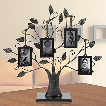 Family Tree with 4 Hanging Photo Frames ()