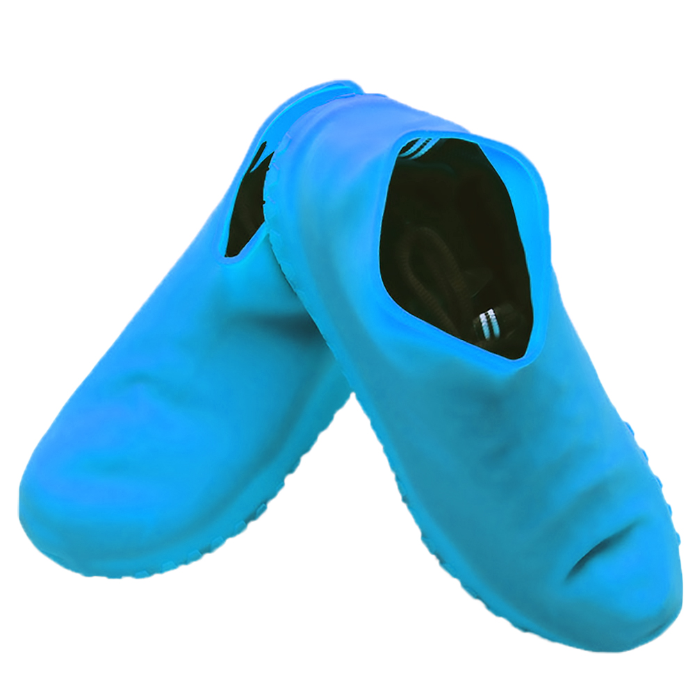 Rain Shoes Silicone Anti-Slip Reusable-Waterproof Protect Overshoes Cover Size M