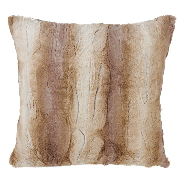 Fennco Styles Wilma Collection Country Faux Rabbit Fur Palette 28 X 28 Inch Throw Pillow Cover â Natural Euro Pillow Case For Couch Bedroom And Living Room Dã Cor Walmart Com Walmart Com