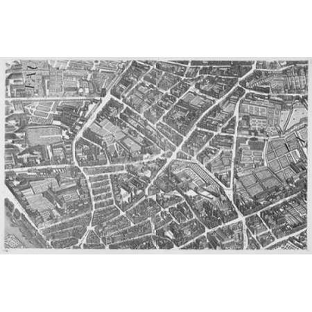 Paris 1739 Sectional map Poster Print by  Michel-Etienne Turgot 1739 Paris Map