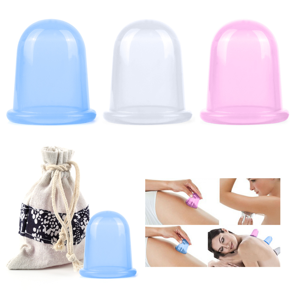 Jeobest Family Silicone Massager Cupping Body Massage Helper Anti Cellulite Vacuum with Carry Bag MZ