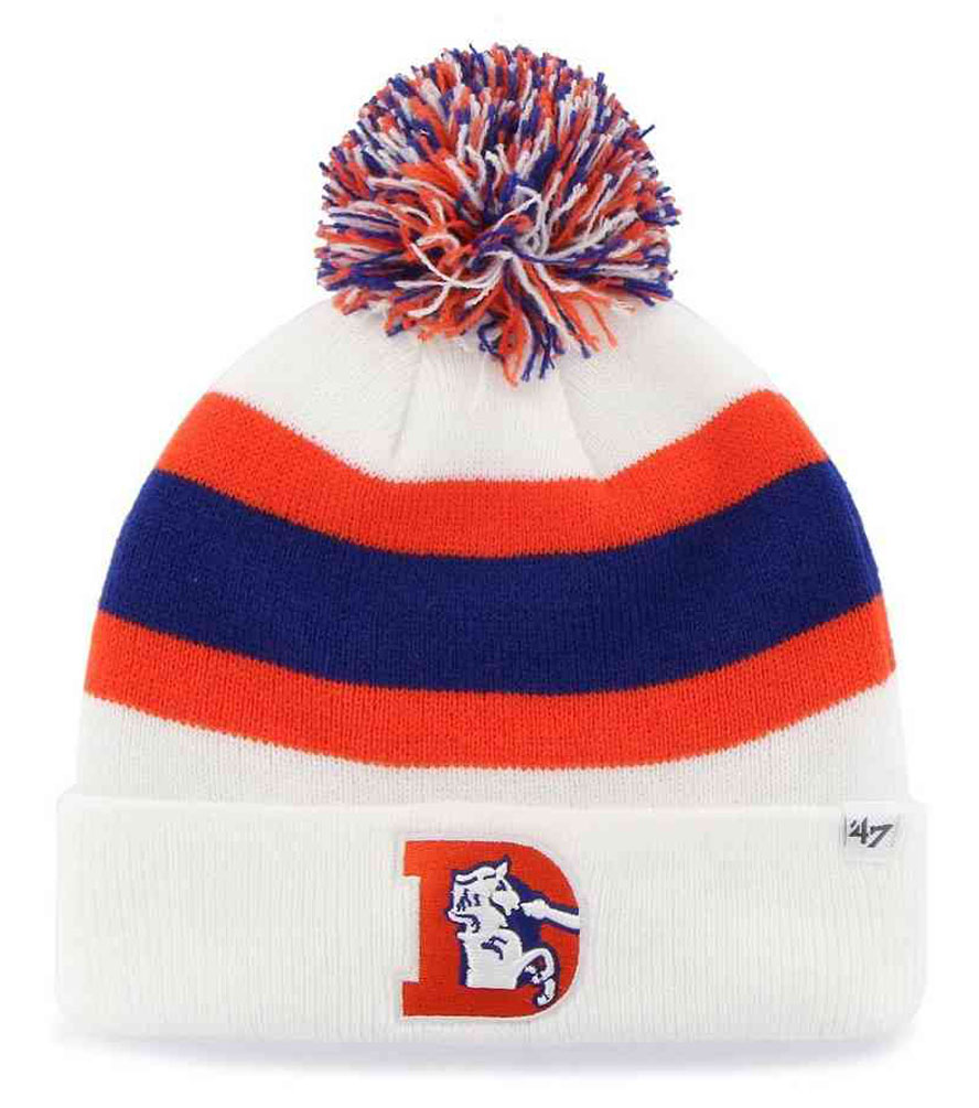 ... reduced 47 brand denver broncos nfl breakaway cuff knit hat white. fl  brkaw10ace d7422 2bd69 49265623a4e8
