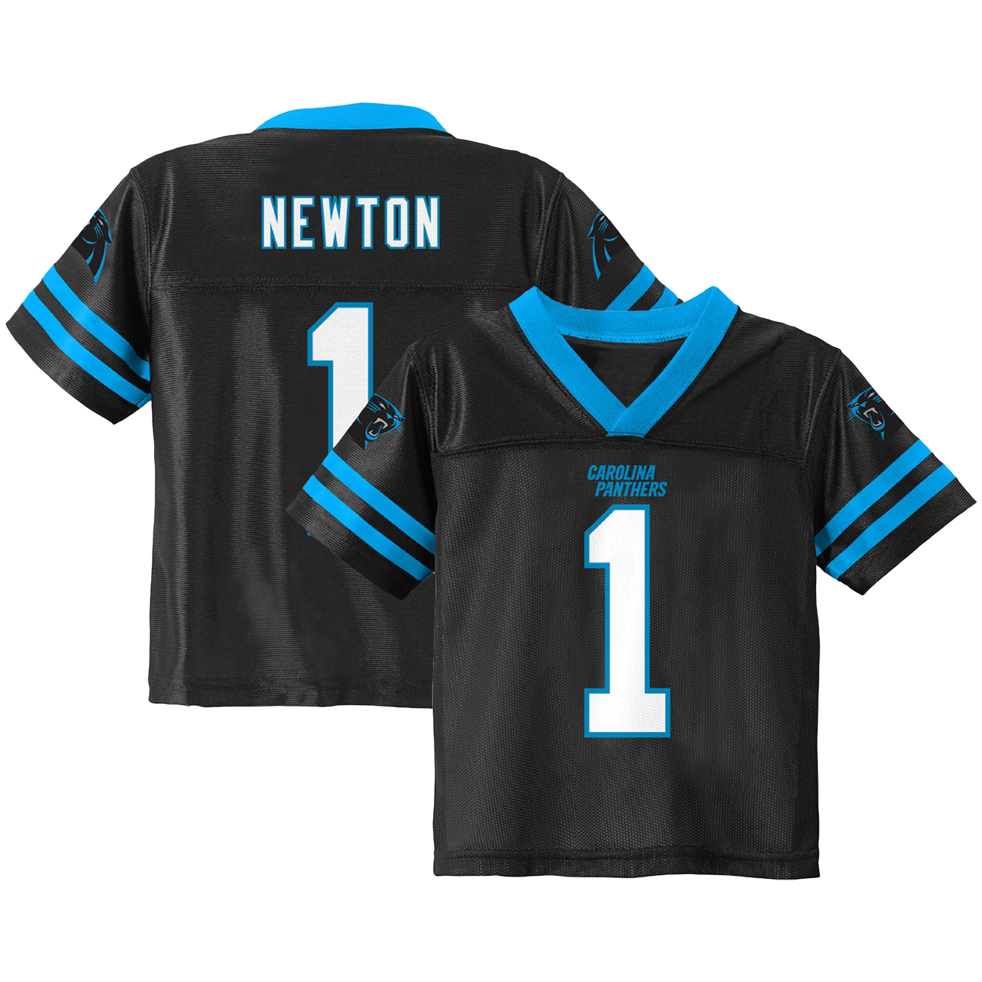 Youth Cam Newton Black Carolina Panthers Team Color Jersey