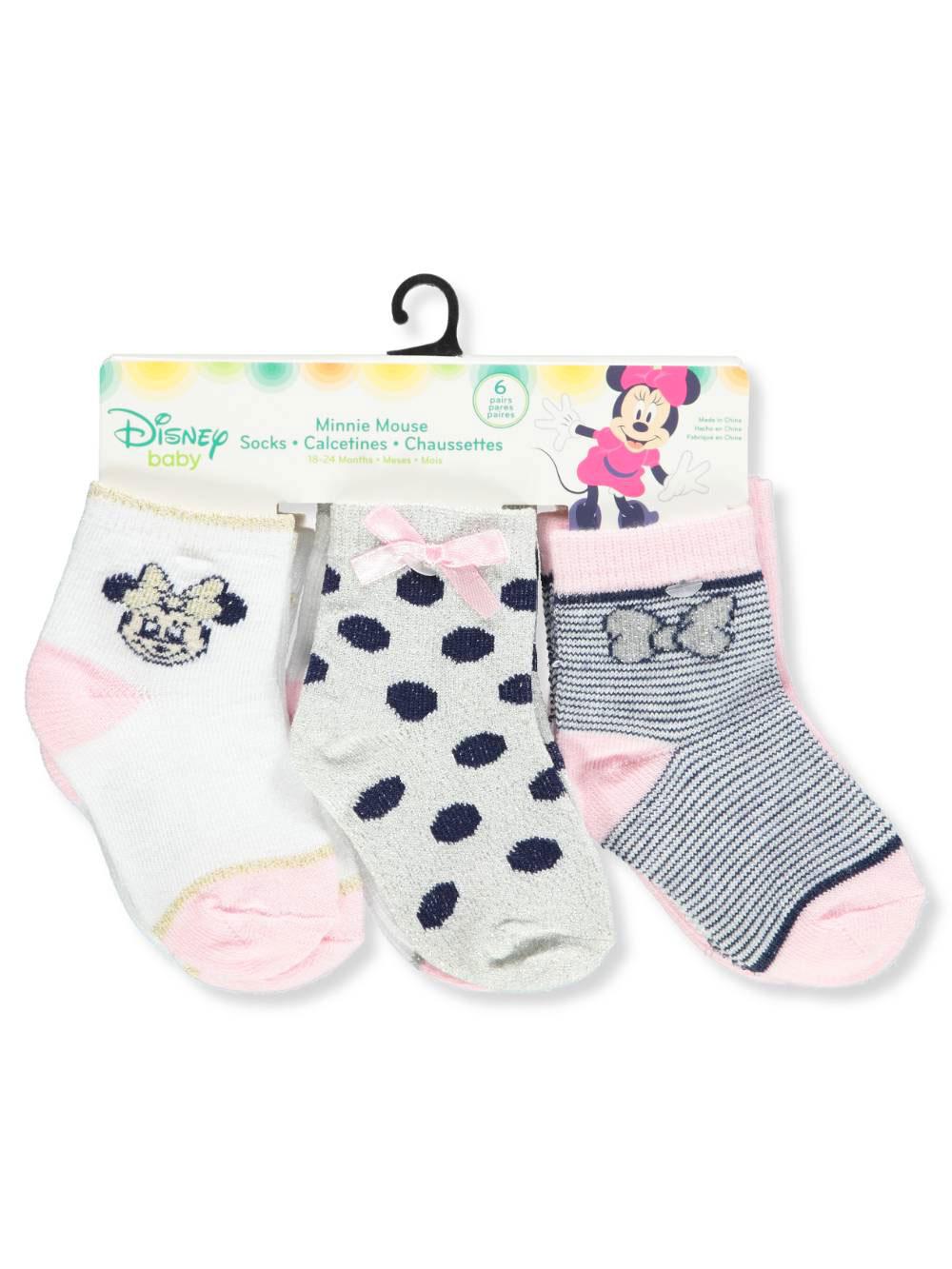 Disney Minnie Mouse 6-Pack Crew Socks