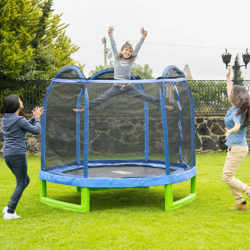 Bounce Pro 7' My First Trampoline Hexagon (Ages 3-10) for Kids