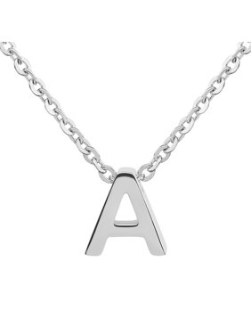 """Coastal Jewelry Initial Stainless Steel Necklace (18"""") - Letter A"""