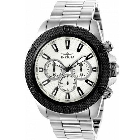 Silver Timepiece - 22718 Men's 'Pro Diver' Quartz Stainless Steel Casual Watch