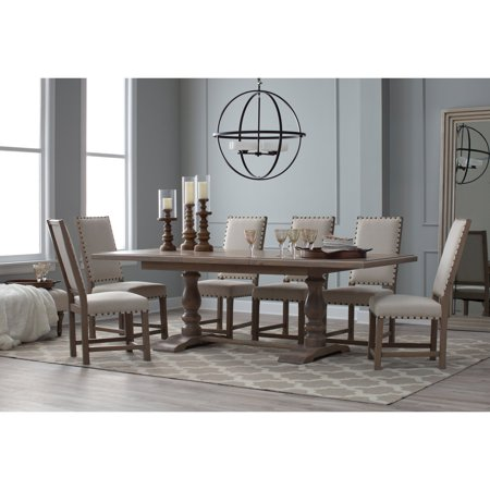 Linen Extension Dining Table - Belham Living Kennedy Trestle Extension Dining Table