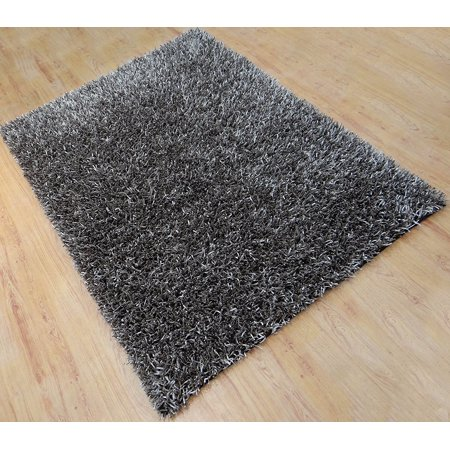 Shaggy Brown Hand Tufted Area Rug 5x8 Ft Soft Modern Polyester Shag