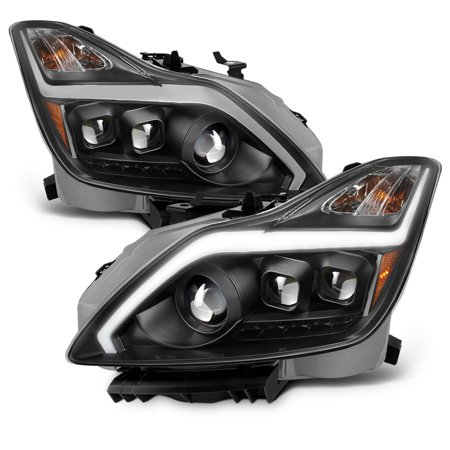 Black Fits 2008-2015 G37 / Q60 Coupe Switchback LED Signal Projector Headlights