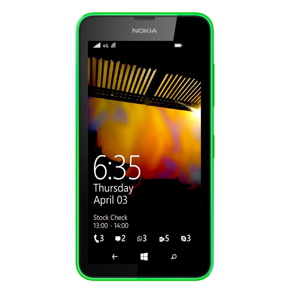 Nokia Lumia 635 Carrier Unlocked 4.5'' IPS Display 1GB RAM 8GB Internal 5MP Camera Phone - Green