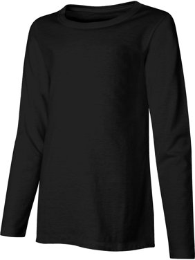 Hanes Girls Long Sleeve Crewneck T-Shirt, Sizes 6-16