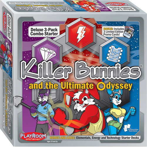 Playroom Entertainment Killer Bunnies Odyssey 3-Pack Combo Starter Deck, Heroic and Azoic