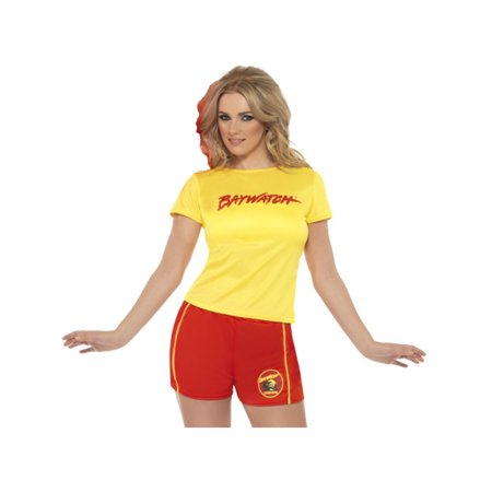 Adult's Womens  Baywatch Lifeguard Classic Beach Babe Costume