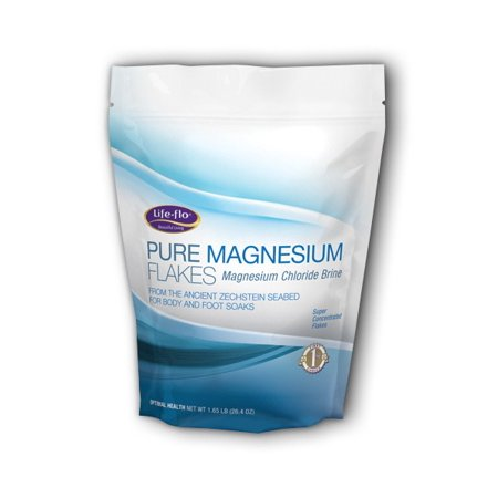 Pure Magnesium Flakes Life Flo Health Products 1 65 lb Bag