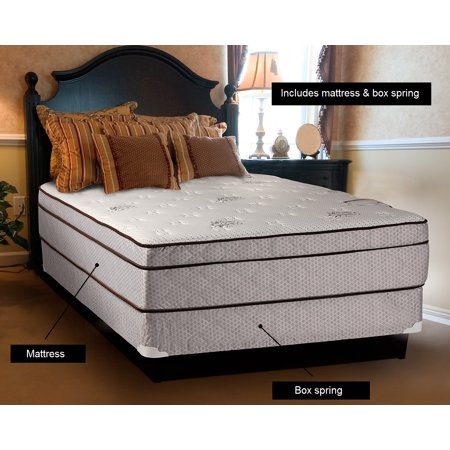"Dream Solutions USA Fifth Ave Extra Soft Foam Eurotop (PillowTop) Mattress & Box Spring set (Twin 39""x75""x13"") - Therapeutic Technology, Sleep System, Longlasting Comfort"