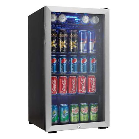 Danby DBC120BLS 3.3 Cuft. Beverage Center Holds 128 Cans Free Standing