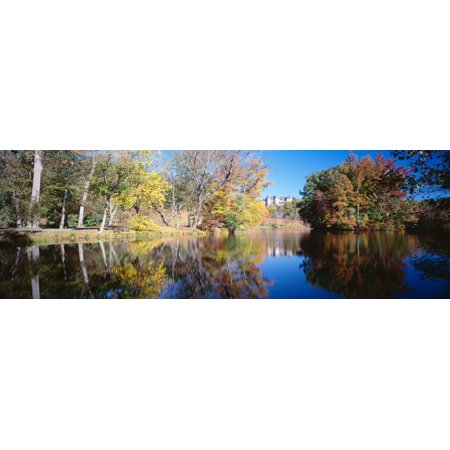 Reflection of trees in a lake Biltmore Estate Asheville North Carolina USA Stretched Canvas - Panoramic Images (12 x (Biltmore Scottsdale)