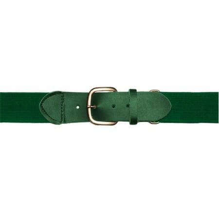Youth Baseball & Softball Uniform Belt, Dark Green (Softball V-neck Uniform)