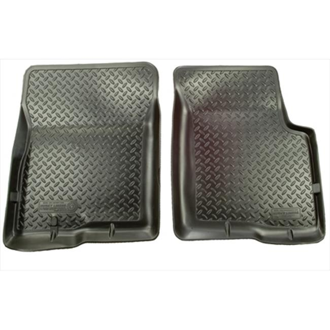 Classic Style Series Thermoplastic Elastomer Black Front Floor Liners