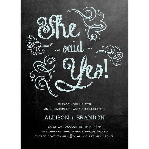 sweet engagement party invite standard engagement - walmart, Party invitations