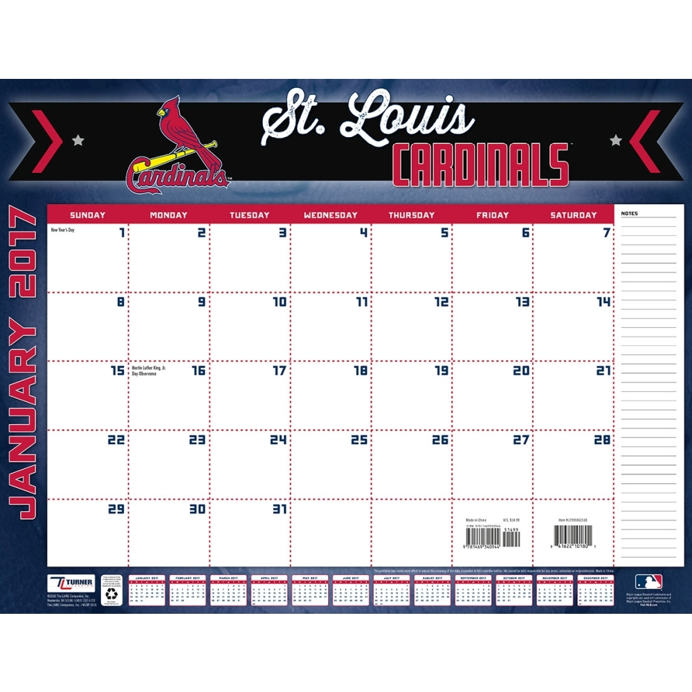 Turner Sports 2017 22 Quot X 17 Quot Desk Calendar St Louis